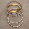 Lightweight solid stainless steel Karas - some with gold tone