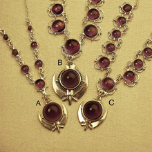 Load image into Gallery viewer, Khanda / Amethyst Adi Shakti necklaces