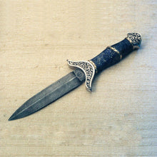 Load image into Gallery viewer, Engraved small lapis handled dagger