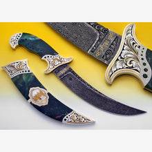 Load image into Gallery viewer, Tribute to Darbar Sahib - Engraved/encrusted jasper Kirpan