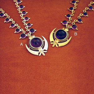 Amethyst adi shakti necklaces2