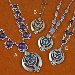 Khanda / Adi Shakti Ekongkar Pendants on varied necklaces