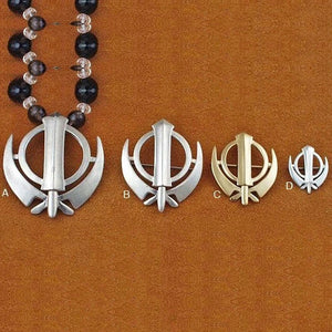 Simple khanda / adi shakti pin pendants