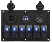 Load image into Gallery viewer, 12V LED Rocker Switch Panel