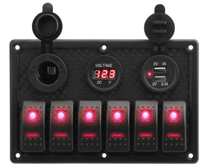 12V LED Rocker Switch Panel