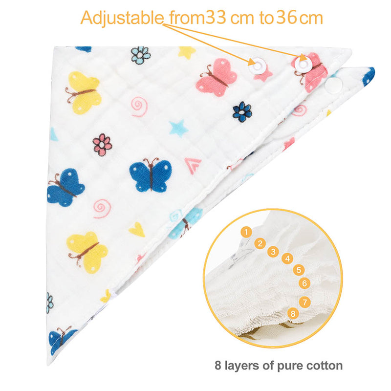 Bavoirs (pack de 8) en coton ultra absorbant