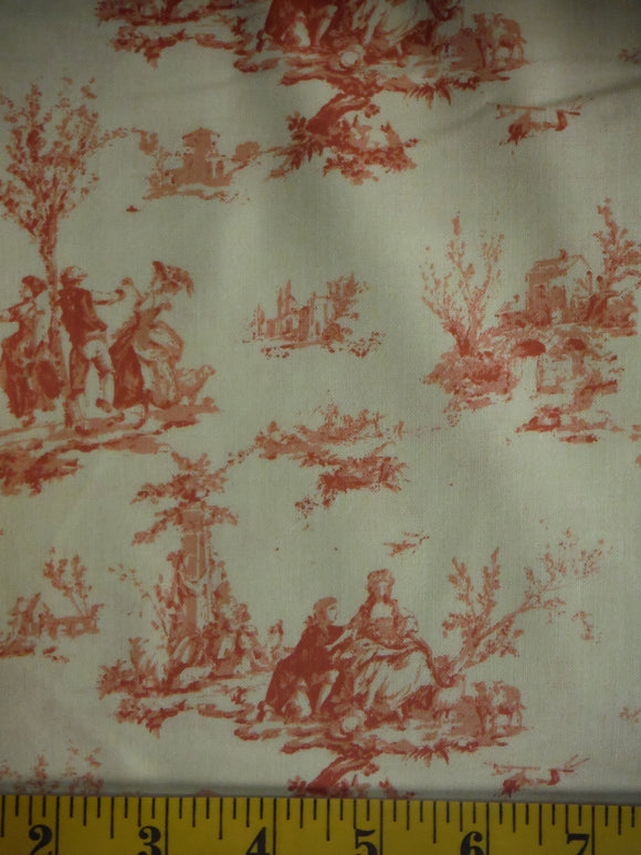 Reduced Toile #C586-Rose