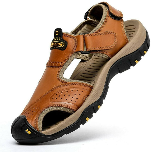 50% OFF(Discount ends today)🔥Men Leather Hiking Sandals