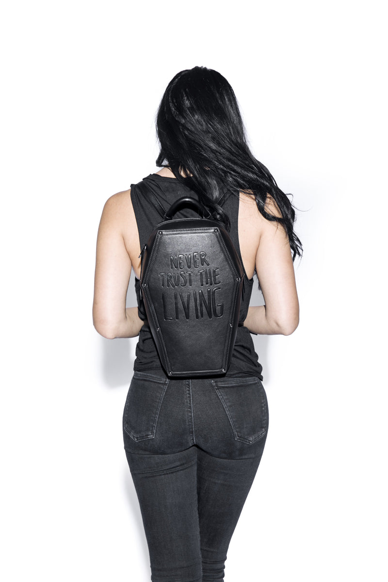 46% OFF-Never Trust - Coffin Backpack