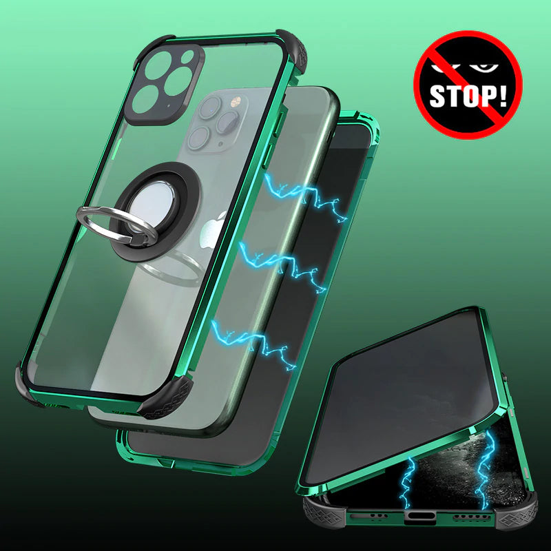 Magnetic Tempered Glass Privacy Shockproof Phone Case Coque 360 Magnet Metal Cover For iPhone 11 Pro MAX XR XS 8 7 Plus Cases