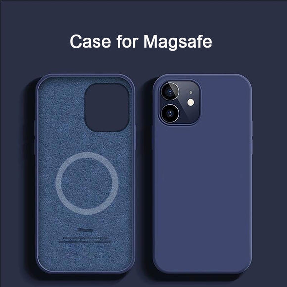 Magsafe Wireless Charging Liquid Silicone Thin Soft Case For iPhone 12 11 Series