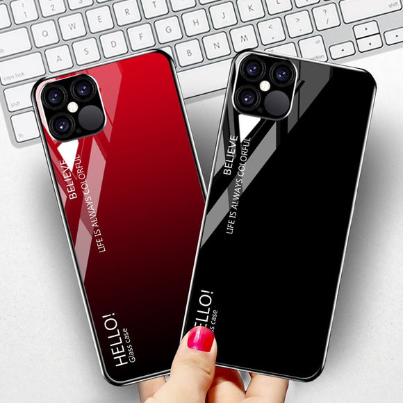 Luxury Star Space Tempered Glass Case For iPhone 11 & 12 Series