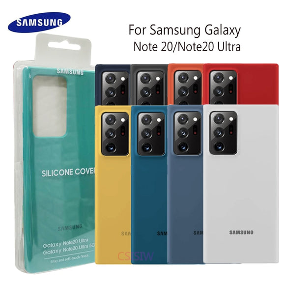 Silky Silicone Cover Quality Soft Touch Back Protective Case for Samsung Note20 Series