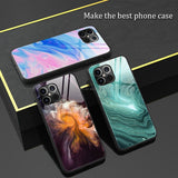 Luxury Marble Tempered Glass Hard Back Cover Case For iPhone 12 Series