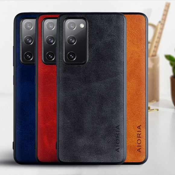 Luxury Vintage PU Leather Skin Case for Samsung Galaxy S20 Series