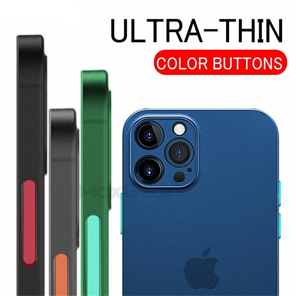 Ultra Thin Matte Color Shockproof Soft Case For iPhone 12 11 Series