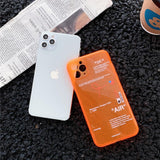 Fluorescence Sport Clear Soft Silicon Case for iPhone 11 Series