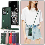 Fashion Lady Crossbody Leather Case with Wristband For Samsung S20 & Note 20 Series
