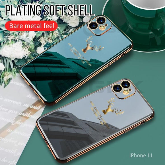 Luxury Plating Soft Tpu Anti knock Camera Protective Case For Iphone 11 Series