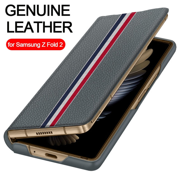Luxury Genuine Leather Case For Samsung Galaxy Z Fold 2 5G Limited Edition