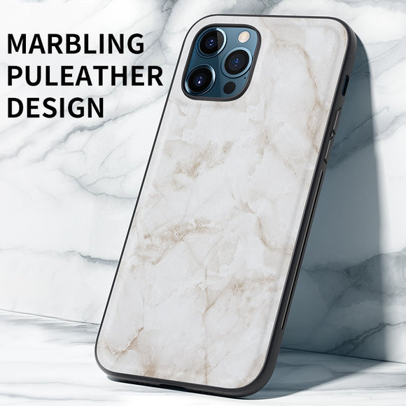 High Quality Magnetic Shockproof Silicone Marble PU Leather Phone Case For iPhone 12 11 Series