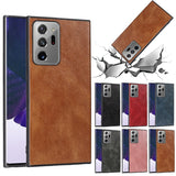 Plain PU Leather Case Silicone Back Cover Case For Samsung S20 Note 20 Series