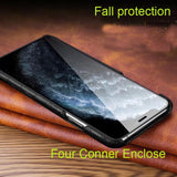 Luxury Genuine Cow Leather Case For iPhone 12 Series