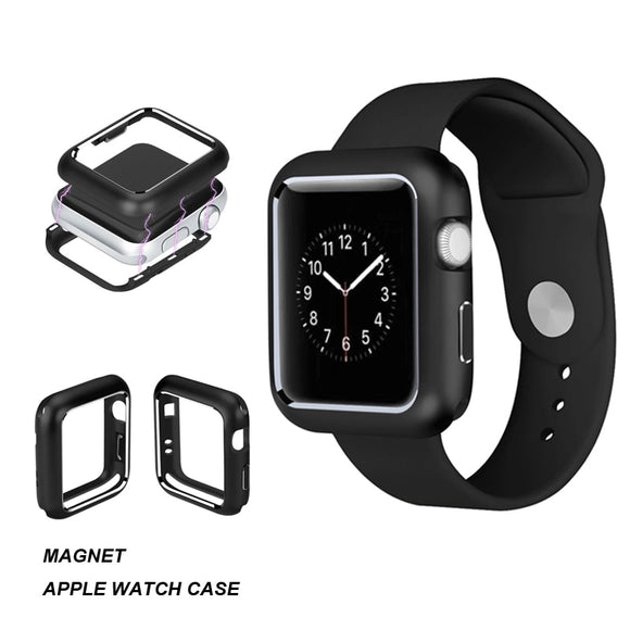 Metal Hard Frame Protective Maget Case for Apple Watch Series