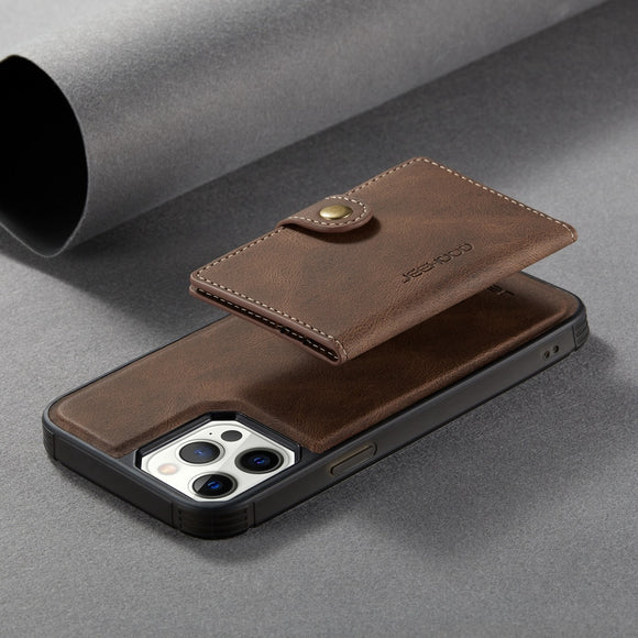 2 In 1 Magnetic Wallet Luxury Leather Phone Case for IPhone 12 11 Pro Max