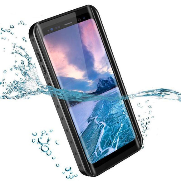 360 Full Protection Waterproof bag Phone Case for Samsung Galaxy S9 Plus Note 8 Note 9