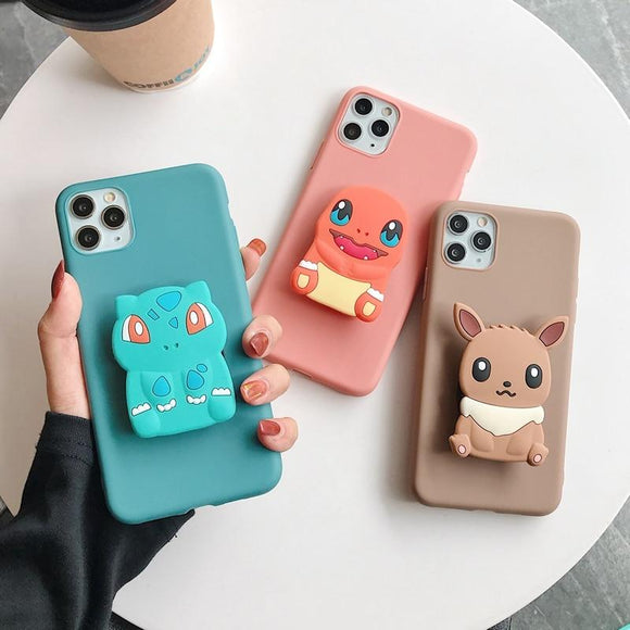3D Cute Animal Soft Silicone Phone Case for iPhone 11 Series