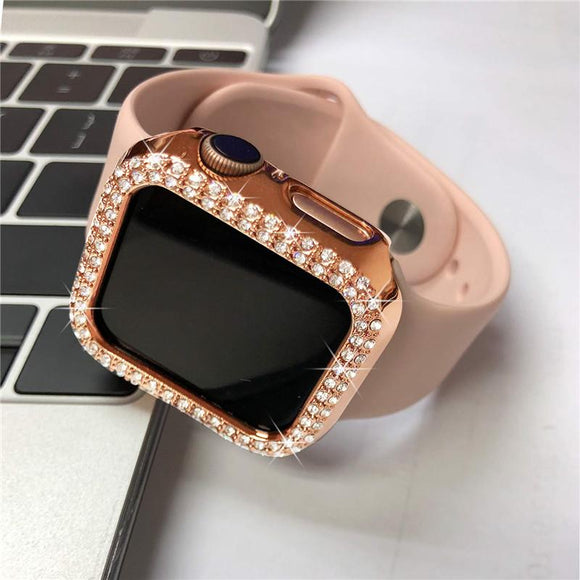 Luxury Bling Diamond Protective Hard Case for Apple Watch Series
