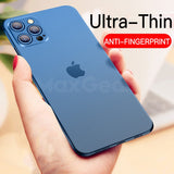 Ultra Thin Soft Hard Matte Cover Transparent Phone Case For iPhone 11 & 12 Series