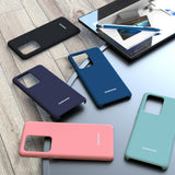 High Quality Silky Silicone Soft Touch Back Cover Case for Galaxy S20 Series