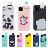 3D Kawaii Unicorn Panda Bear Silicon Shockproof Case for iPhone 11 Series