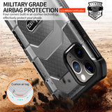 Military Rugged Armor Heavy Duty 360° Camera Protection Case for iPhone 12 Series