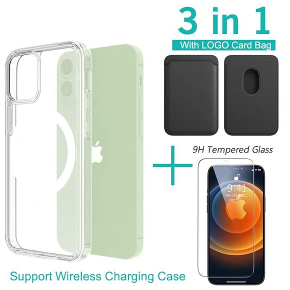 Magsafe Card Bag Magnetic Support Wireless Charging Case For iPhone 12 Series