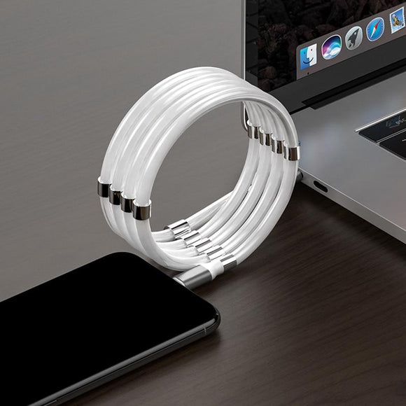 Magnetic Storage Cable Micro USB Fast Charging for Smartphone