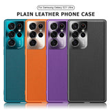 Luxury Plain Leather Shockproof Phone Case For Samsung Galaxy S21 S20 Note 20 Series