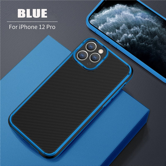 Camera Protection Shockproof Armor Matte Bumper Phone Case For iPhone 12 11 Pro Max