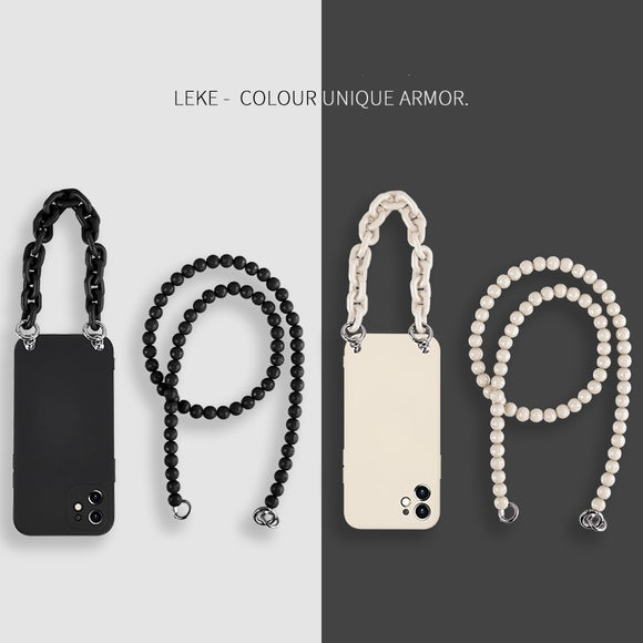 Original Crossbody Necklace Lanyard Liquid Silicone Case for iPhone 12 Series
