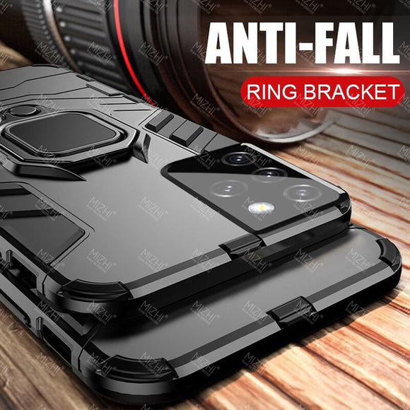 Shockproof Armor Magnetic Car Ring Stand Holder Cases For Samsung Galaxy S21 Ultra Plus