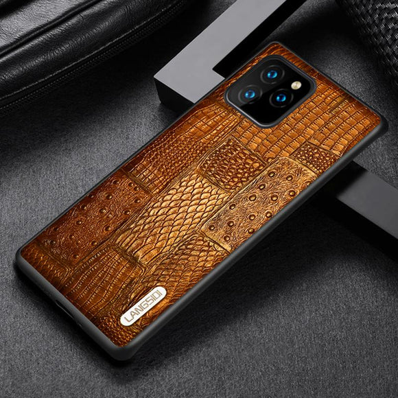 Luxury Fashion Genuine Leather Heavy Duty Protection Case For Iphone 11 Series