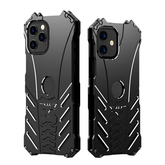 Shockproof Armor Aluminum Alloy Metal Case Batman Logo For iPhone 12 Pro Max
