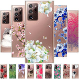 Ultra Slim Transparent Soft TPU Silicone Cover Luxury Protective Case for Samsung Galaxy Note 20 Series