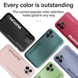 Ultra thin Soft Liquid Silicone Luxury Painted Colorful Phone Case For iPhone 11 Series