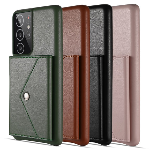 Multifunction PU Leather Flip Wallet Case for S21 S20 Note 20 Series