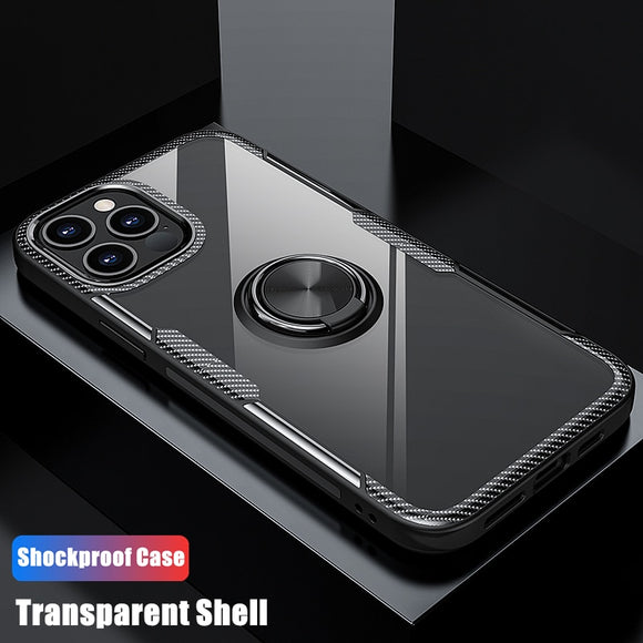 Anti Shock Transparent Magnet Case For iPhone 12 11 Pro Max