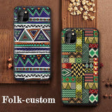 Bohemia Folk-custom Leather Embossed Shockproof Soft Back Cover for iPhone 11 Pro Max