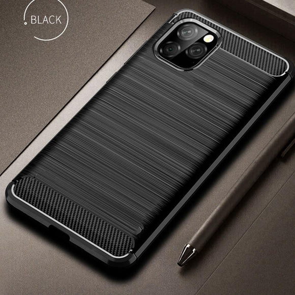 Carbon Fiber Cover Shockproof Phone Case For iPhone 11 Pro Max
